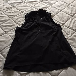 BCBG black sleeveless blouse size M